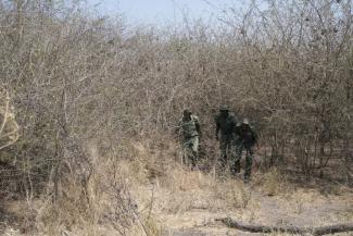 Community game guards on an anti-poaching patrol